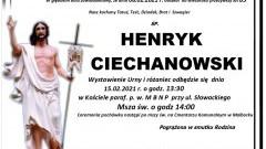 Zmarł Henryk Ciechanowski. Żył 83 lata.