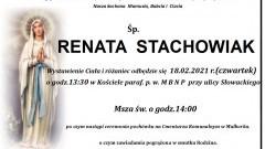 Zmarła Renata Stachowiak. Żyła 53 lata.