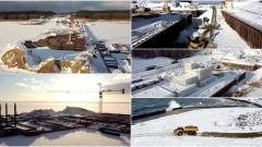 Atak zimy nie opóźnił prac na Przekopie Mierzei Wiślanej [foto, wideo]