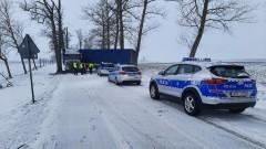 Ciężarówka zablokowała DK55 na kilka godzin - raport sztumskich służb mundurowych.