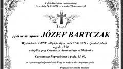 Zmarł Józef Bartczak. Żył 93 lata.
