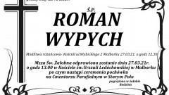 Zmarł Roman Wypych. Żył 75 lat.