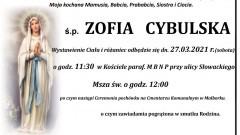Zmarła Zofia Cybulska. Żyła 88 lat.