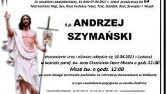 Zmarł Andrzej Szymański. Żył 64 lata.
