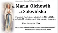 Zmarła Maria Olchowik. Żyła 71 lat.