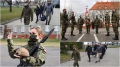 Malbork. Kolejni ochotnicy założyli mundur 7 Pomorskiej Brygady Obrony Terytorialnej.