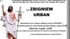 Zmarł Zbigniew Urban. Żył 60 lat.