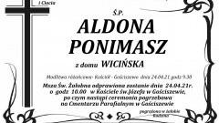 Zmarła Aldona Ponimasz.