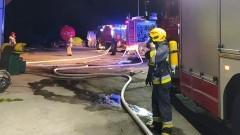 Pożar garażu z butlami z tlenem – raport sztumskich służb mundurowych.