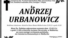 Zmarł Andrzej Urbanowicz. Żył 76 lat.