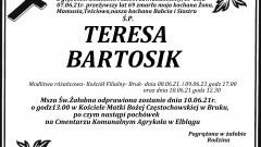 Zmarła Teresa Bartosik. Żyła 69 lat.