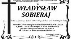 Zmarł Władysław Sobieraj. Żył 58 lat.