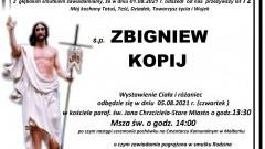 Zmarł Zbigniew Kopij. Żył 72 lata.