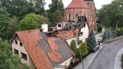 Nowy Staw. Oświadczenie parafii św. Mateusza Apostoła – zobacz miejsce po pożarze z drona TvMalbork.