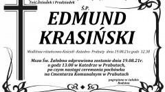 Zmarł Edmund Krasiński. Żył 76 lat.