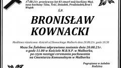 Zmarł Bronisław Kownacki. Żył 83 lata.