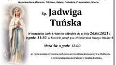 Zmarła Jadwiga Tuńska. Żyła 96 lat.