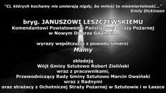 Kondolencje Wójta Gminy Sztutowo, pracowników Urzędu Gminy, Przewodniczącego Rady Gminy, Radnych oraz strażaków OSP w Sztutowie i Łaszce.