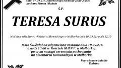 Zmarła Teresa Surus.
