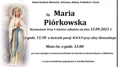 Zmarła Maria Piórkowska. Żyła 89 lat.
