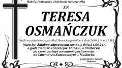 Zmarła Teresa Osmańczuk. Żyła 86 lat.
