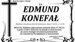 Zmarł Edmund Konefał. Żył 79 lat.