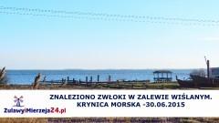 KRYNICA MORSKA. ZNALEZIONO ZWŁOKI W ZALEWIE WIŚLANYM. - 30.06.2015