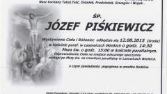 ZMARŁ JÓZEF PIŚKIEWICZ. ŻYŁ 90 LAT.