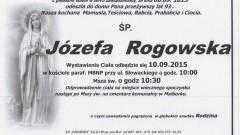 ZMARŁA JÓZEFA ROGOWSKA. ŻYŁA 93 LATA.