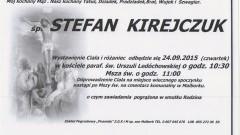 Zmarł Stefan Kirejczuk. Żył 80 lat.