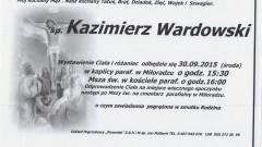 Zmarł Kazimierz Wardowski. Żył 57 lat.