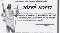 Zmarł Józef Kopij. Żył 74 lata.
