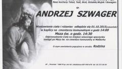 Zmarł Andrzej Szwager. Żył 60 lat.