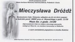 Zmarła Mieczysława Dróżdż. Żyła 87 lat.