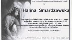 Zmarła Halina Smardzewska. Żyła 78 lat.