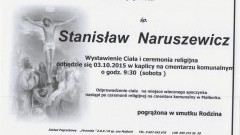 Zmarł Stanisław Naruszewicz. Żyła 67 lat.