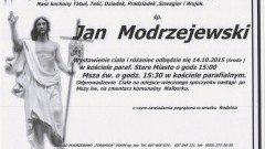Zmarł Jan Modrzejewski. Żył 85 lat.