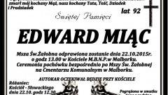 Zmarł Edward Miąc. Żył 92 lata.