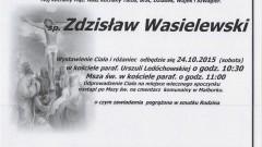 Zmarł Zdzisław Wasielewski. Żył 69 lat.