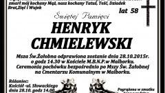 Zmarł Henryk Chmielewski. Żył 58 lat.