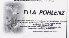 Zmarła Ella Pohlenz. Żyła 83 lata.