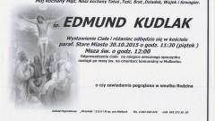 Zmarł Edmund Kudlak. Żył 79 lat.