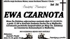 Zmarła Ewa Czarnota. Żyła 56 lat.