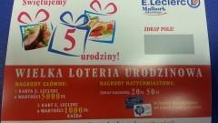 Malborski E.Leclerc świętuje 5. urodziny. Na mieszkańców Malborka czekają liczne atrakcje. Wśród nich losowania nagród oraz urodzinowa loteria.