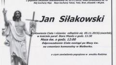 Zmarł Jan Siłakowski. Żył 78 lat.