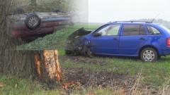 Powiat Malborski: Dachowanie dwóch aut. Śmigłowiec zabrał do szpitala 4- letnie dziecko – 17.11.2015