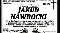 Zmarł Jakub Nawrocki. Żył 82 lata.