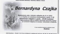 Zmarła Bernardyna Czajka. Żyła 79 lat.