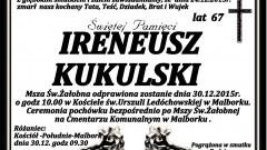 Zmarł Ireneusz Kukulski. Żył 67 lat.