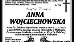 Zmarła Anna Wojciechowska. Żyła 74 lata.